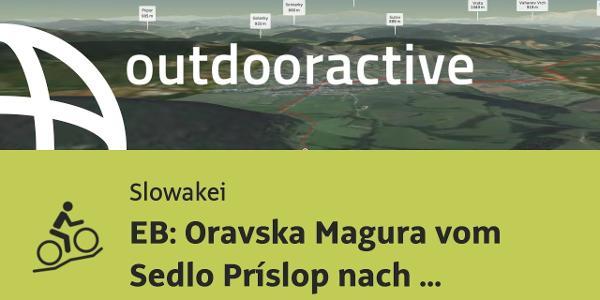 Mountainbike-tour in der Slowakei: EB: Oravska Magura vom Sedlo Príslop nach Zakopane