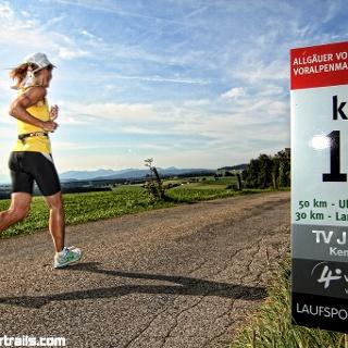 Läufer bei KM 11