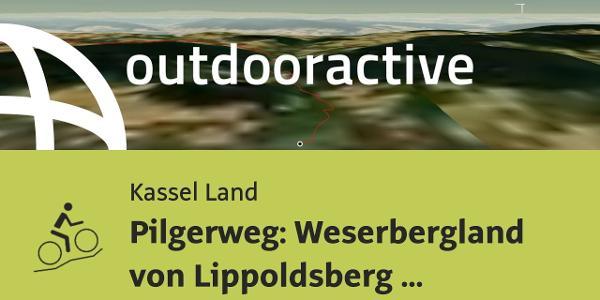 Mountainbike-tour in Kassel Land: Pilgerweg: Weserbergland von Lippoldsberg nach Bodenwerder