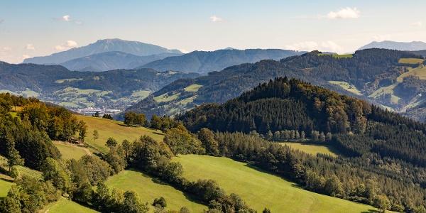 Ausblick auf die Mostviertler Bergwelt