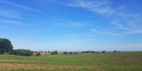 Panoramablick bis zur Ostsee