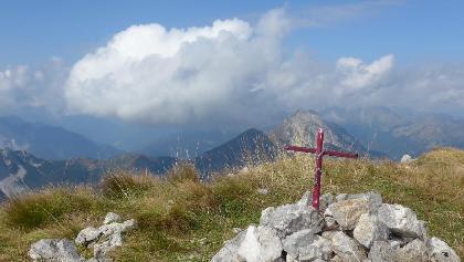Gipfelkreut des Creta di Rio Secco