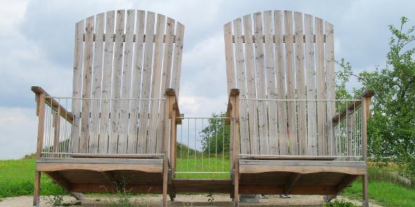Die Zwei Stühle am Brombachsee