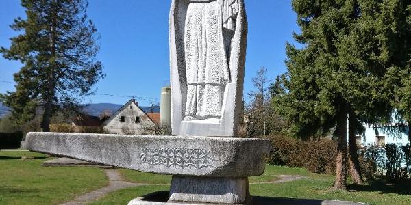 Söding - Brunnen vor der Gemeinde
