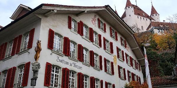 Zunfthaus zu Metzgern und Schloss Thun.