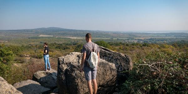 Pogány-kő, the highest among the balancing rocks of Pákozd
