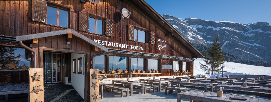 Berghaus Foppa Restaurant Winter Bild