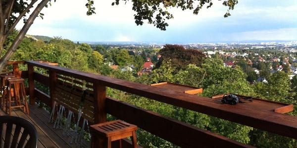 Blick von der Besenschänke Haselbusch in Radebeul