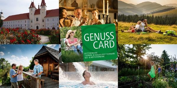 GenussCard - zu Ihrem Urlaub als Geschenk ab der 1. Nächtigung
