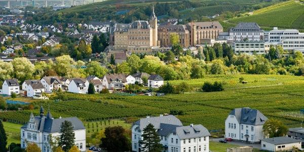 Blick von Walporzheim auf das Kloster