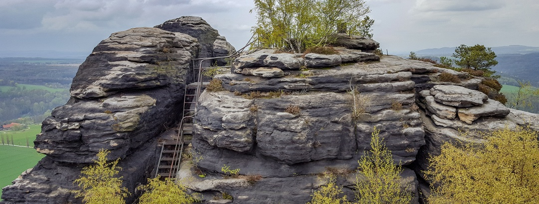 Interessante Stiegen auf dem Lilienstein