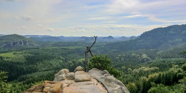Die Aussichtsstelle nahe der Oberen Affensteinpromenade