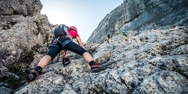 Einstieg Hochstaufen Klettersteig