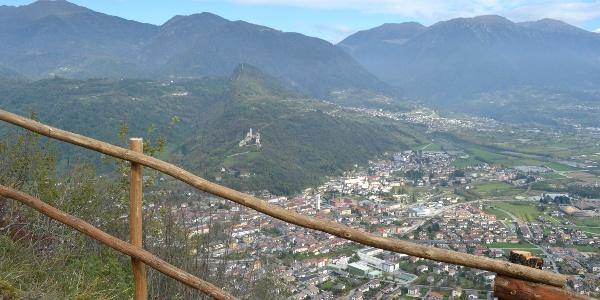 panorama su borgo Valsugana
