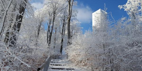 Rozhľadňa Galya-kilátó v zime