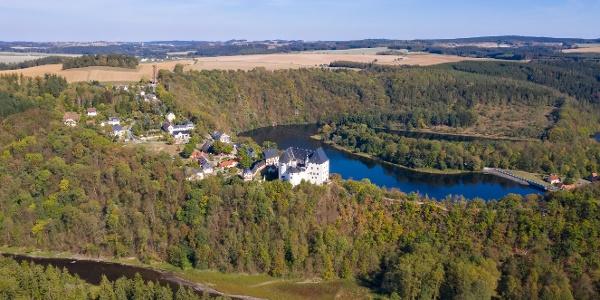 Schloss Burgk und Vorsperre Burgkhammer