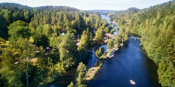 Naturlandschaft am Dalsland-Kanal