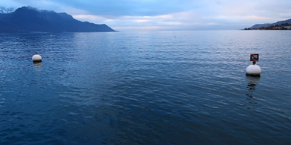 Genfersee bei Montreux.