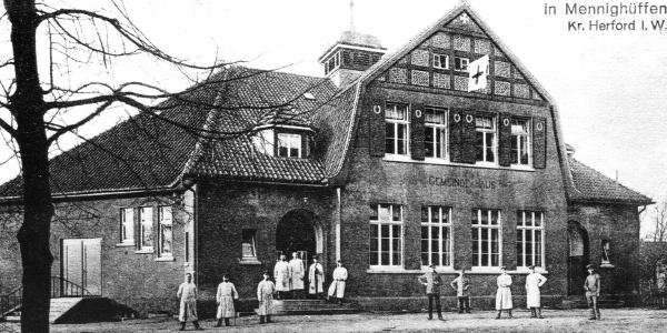 Lazarett im Gemeindehaus Mennighüffen
