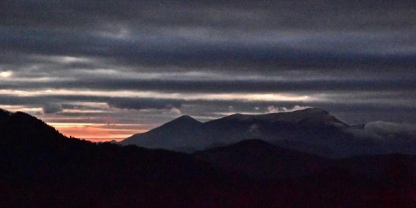Sunrise behind Mt. Porezen