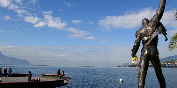 Freddie-Mercury-Statue in Montreux.