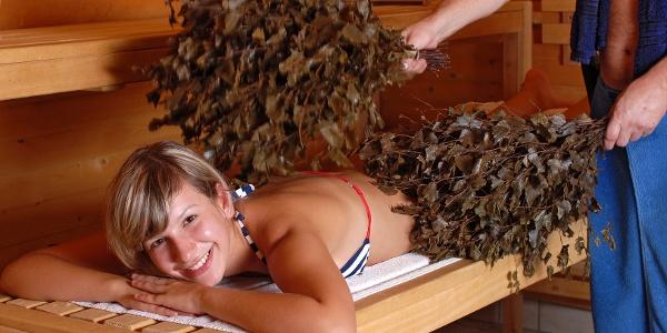 Saunalandschaft in der Waikiki Thermen- und Erlebniswelt