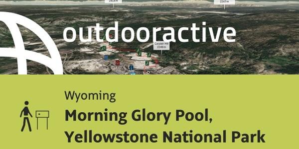 Themenweg in Wyoming: Morning Glory Pool, Yellowstone National Park