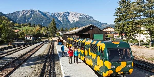 Bahnhof in Puchberg am Schneeberg mit Zahnradbahn