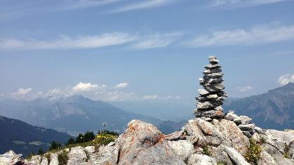 Steinskulpturen auf dem Chimmispitz