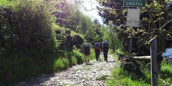 Waldweg Crozol