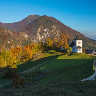 St. Peter's church with Mt. Dobrča in the background