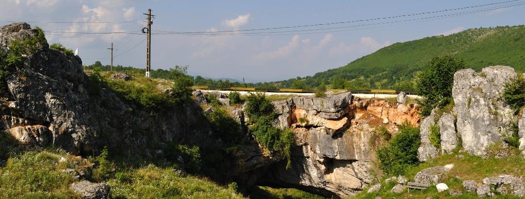 God's Bridge in Ponoarele