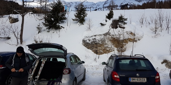 Parkplatz Talstation Brunnenalm Veitsch
