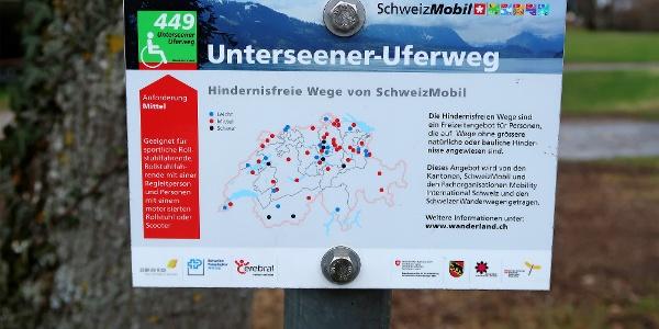 Barrierefreier «Unterseener Uferweg».