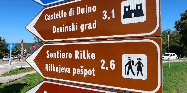 In Sistiana beginnt der Rilkeweg.