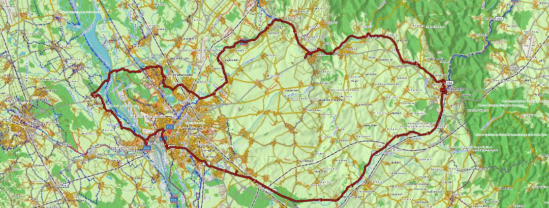 Karte zur Tour