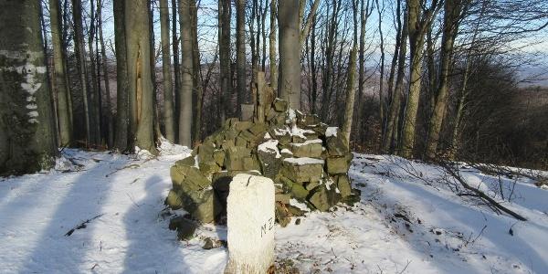 Hirschenstein Gipfelsteinhaufen