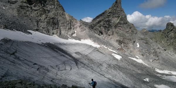 Der Pizolgletscher (Alpinroute)