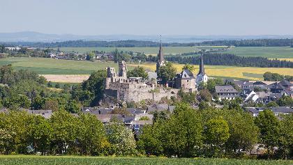 Blick auf die Burgstadt Kastellaun