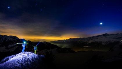 Sci alpinismo in notturna a Madonna di Campiglio