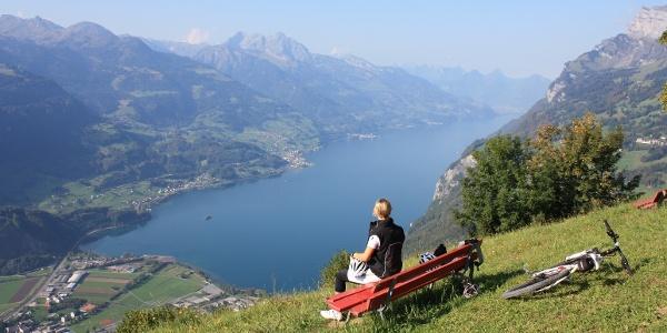 Einmalige Aussicht von der Alp Lüsis