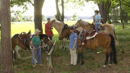 Wanderreiter und -fahrer können auf der Tour Pausen an verschiedenen Raststellen einlegen