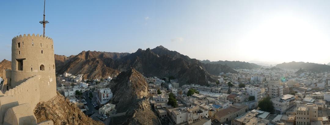 Panoramablick vom Fort von Mutrah