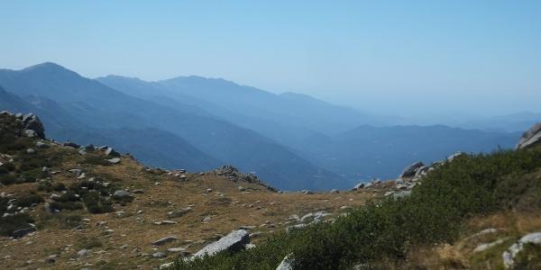 Bergpass: Col de Vizzavona - verläuft 2km nördlich des GR20s