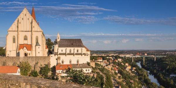 Výhled na Znojmo z hradu