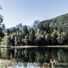 Grandiose Aussicht am Böcklweiher zur Watzmann-Familie