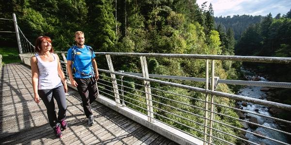 Ponte sospeso sul Canyon del Limarò
