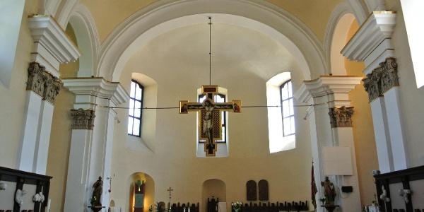 A szentendrei Péter-Pál-templom belső tere