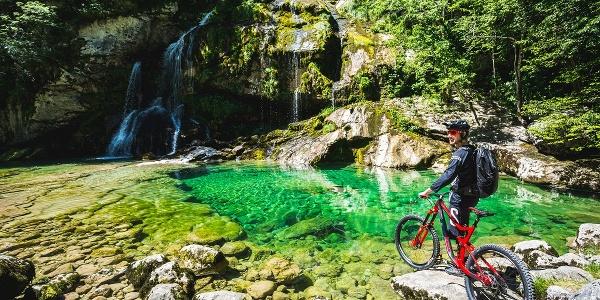 Mountain Biking to Virje waterfall
