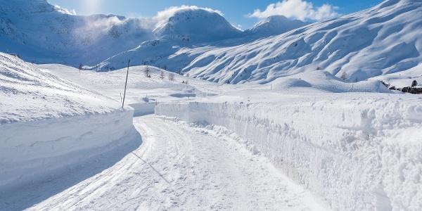Randonnée hivernale dans le Simplon